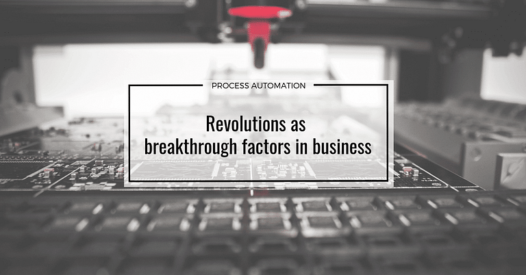 Revolutions as breakthrough factors in business