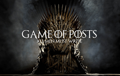 Game of posts. All men must write