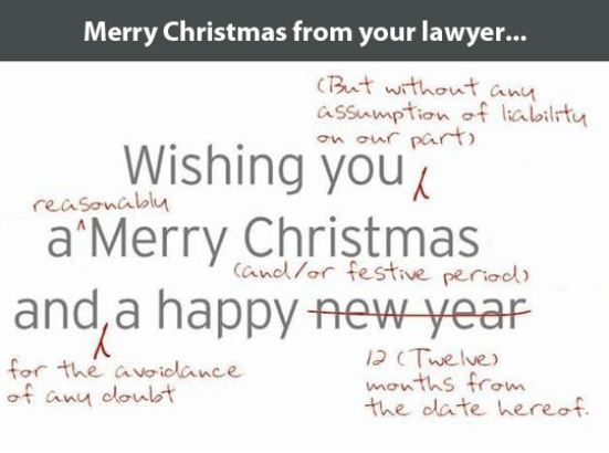 Meme: Mery Christmas from your lawyer