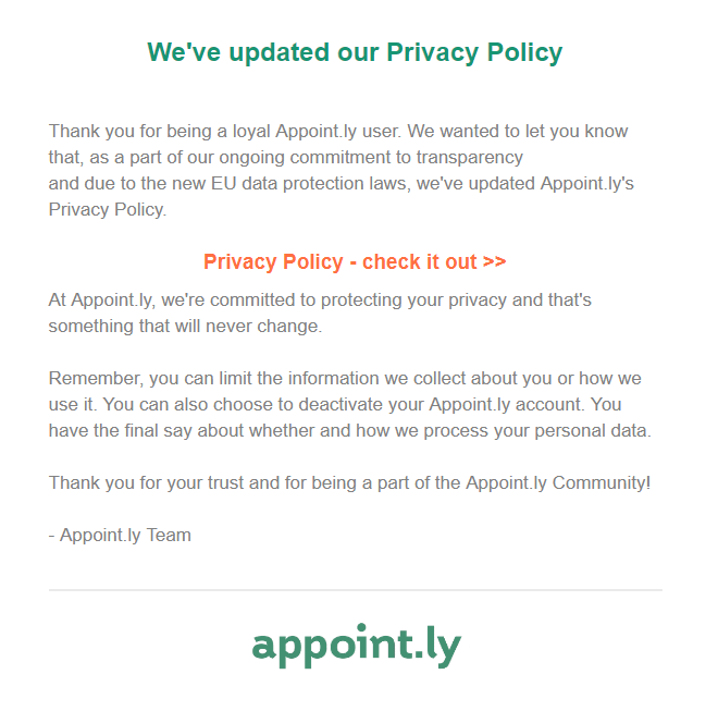 Appoint.ly Privacy Policy