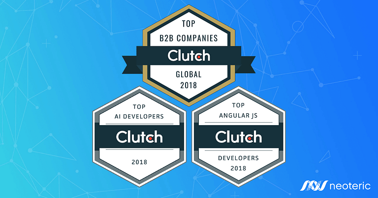Clutch badges, neoteric among the top B2B companies